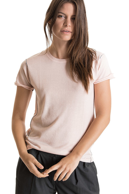 Paychi Guh Cashmere Baby Tee - Bella Pink