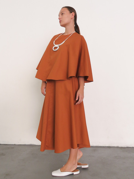 Wolcott Takemoto Kepu Dress - Tangerine
