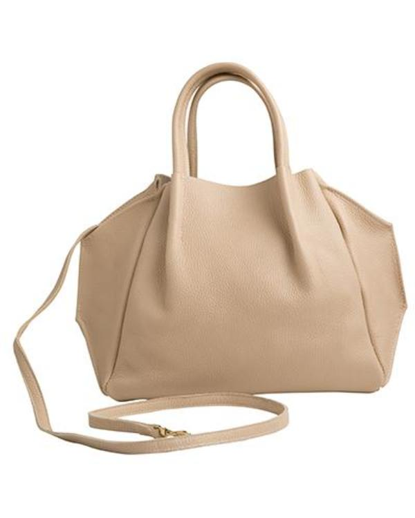 Oliveve Zoe Tote In Sand Pebble Cow Leather