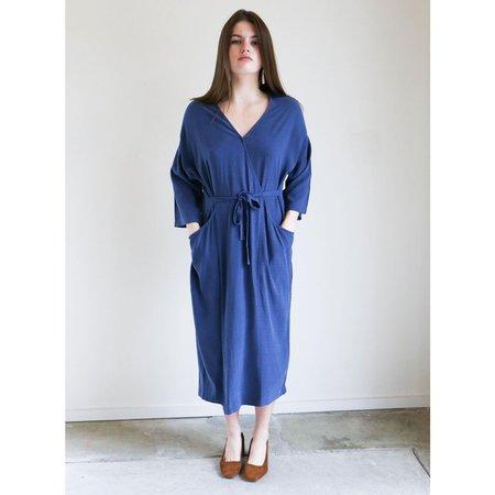 7115 By Szeki Pockets Midi Wrap Dress