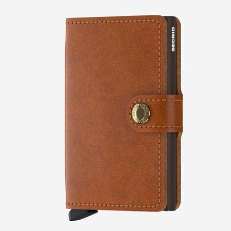 SECRID Mini Wallet - Cognac Leather