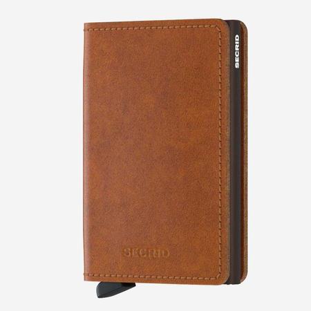 SECRID Slim Wallet - Cognac Leather