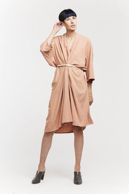 Miranda Bennett O'Keeffe Dress - Silk Noil in Nico