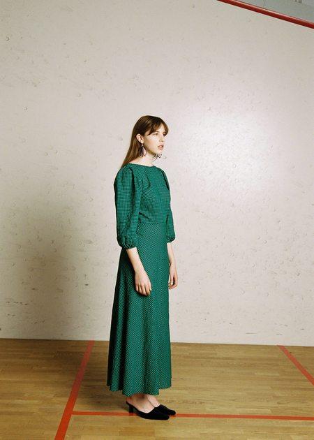 Penny Sage Robin dress - green & navy