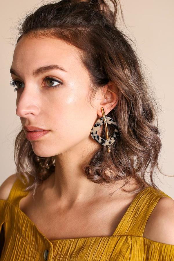 Rachel Comey Realm Earring in Dalmatian Gold