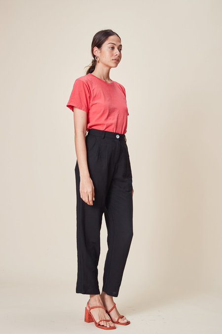 Stil. Pleat Pant - Black