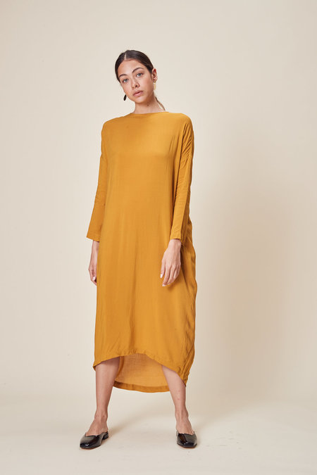 Stil. Column Dress in Turmeric