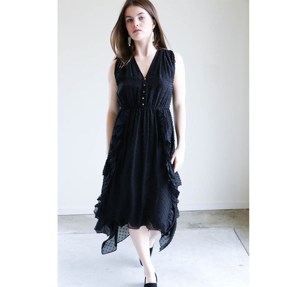 Ulla Johnson Aurelie Dress in Noir