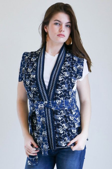 Ulla Johnson Elok Vest in Indigo