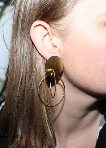 Annie Costello Brown Mini Halo Earrings