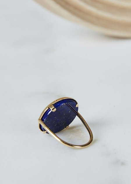 Ginette NY Ever Lapis Disc Ring