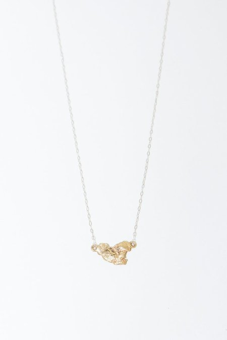 Blair Lauren Brown 24K Raw Gold Nugget Pendant Necklace