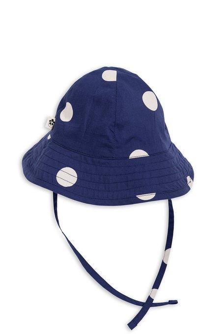 Kids Mini Rodini Dot Sun Hat - Navy