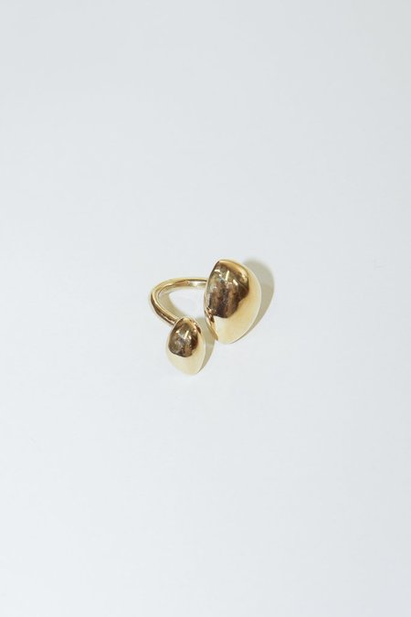 SOKO Sabi Statement Ring in Brass