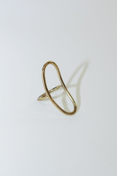 Soko Large Oval Brass Ring