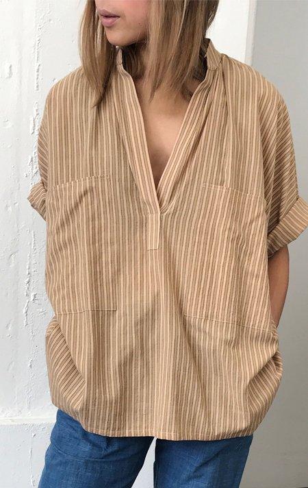 Two Neutral Stripe Two Pocket Shirt