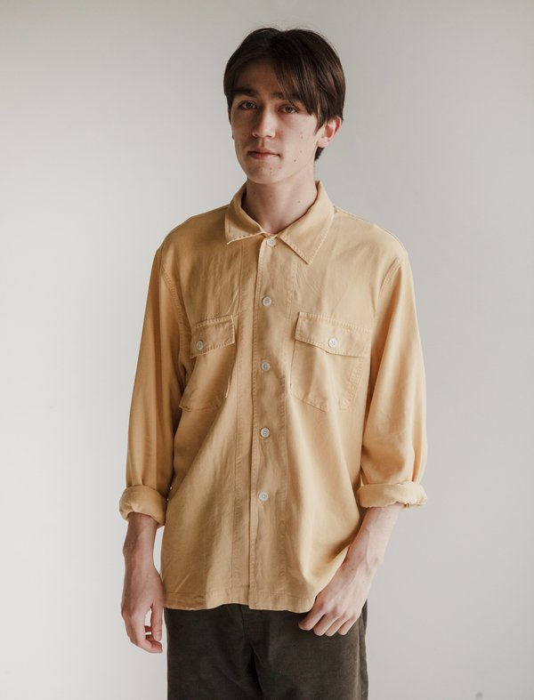 Our Legacy Chamois Shirt - Sun Yellow Silk Wash