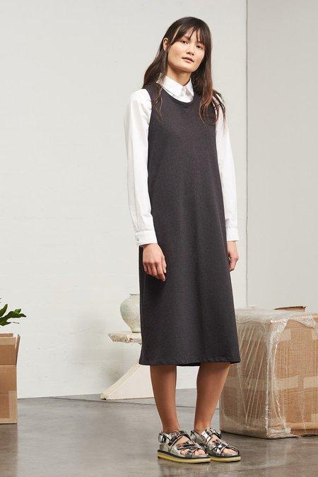 Kowtow Building Block Twist Back Dress in Black Marle