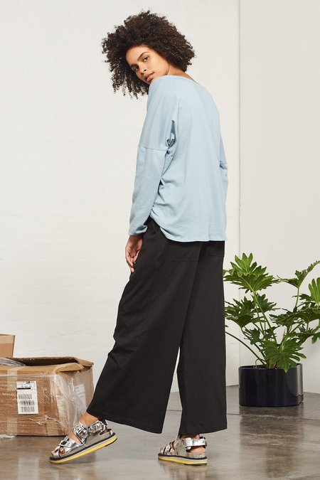 Kowtow Building Block Wide Leg Pant in Black