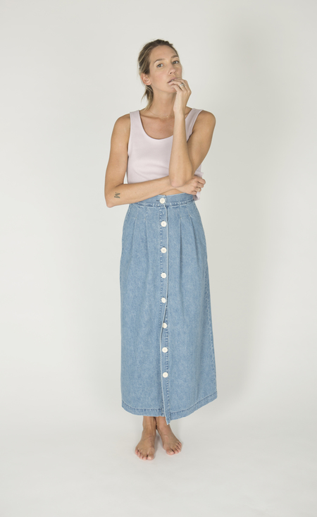 Ilana Kohn Cielo Skirt in Denim