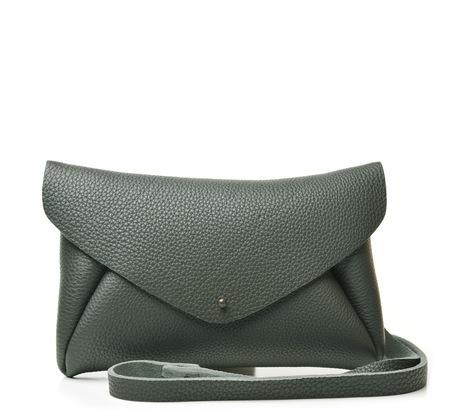 Tiane Tenui Grey Green Envelope Maxi Bag