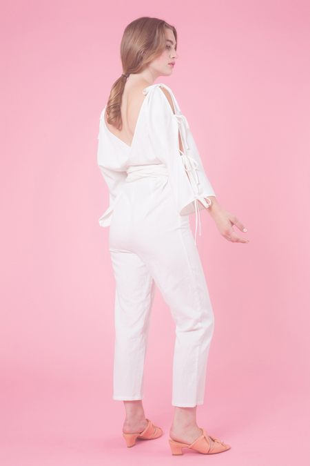Samantha Pleet Harmonic Jumpsuit in White