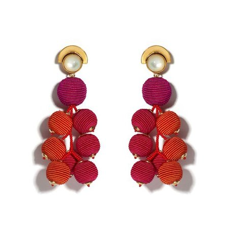 Lizzie Fortunato Meteor Earrings in Berry