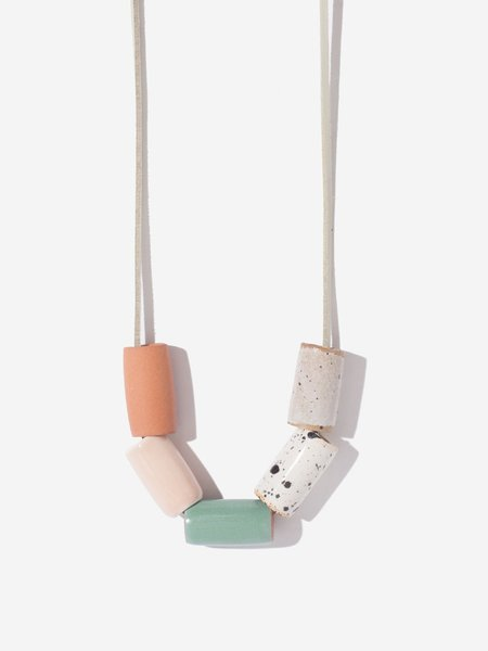 In Pursuits of Happiness Ceramic Necklace