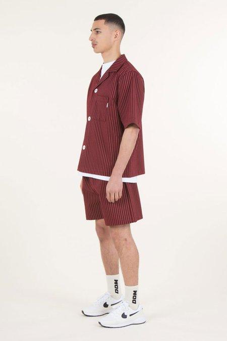 Drole De Monsieur Stripy Shirts - Burgundy