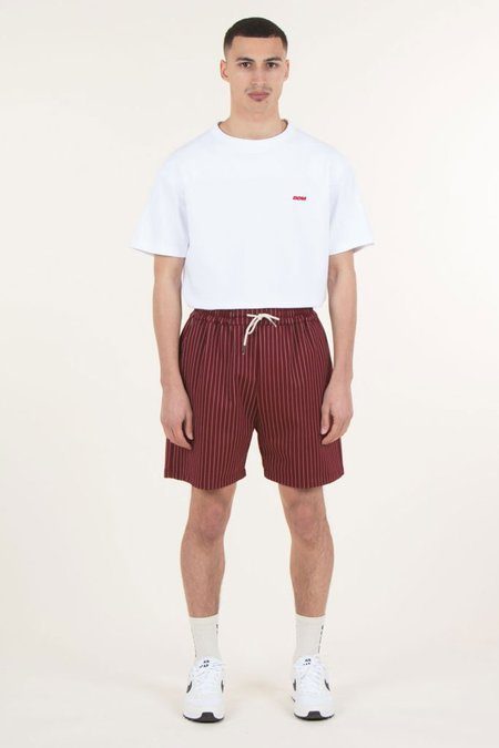 Drole De Monsieur Stripy Short - Burgundy