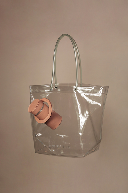 Building Block Peephole Tote in Clear