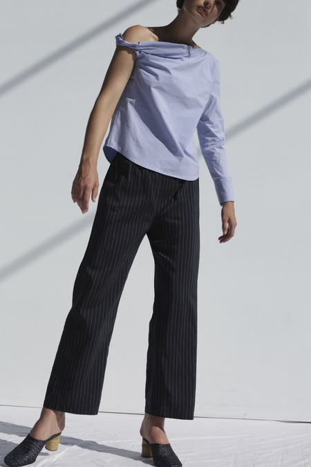 Shaina Mote Harlo Pant in Navy With White Stripe