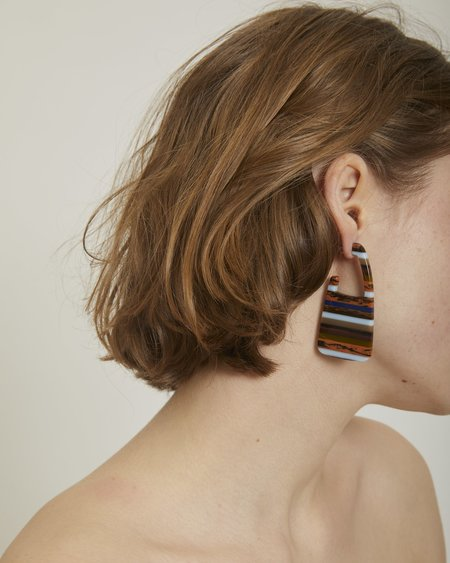 Rachel Comey Elsie earrings in layered stone