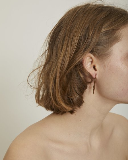By Boe Jagged pin earrings
