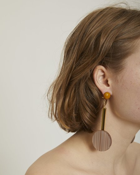 Rachel Comey Jo earrings in beige