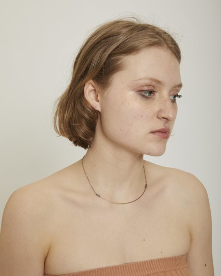 By Boe Wire and Box Chain Arch Choker