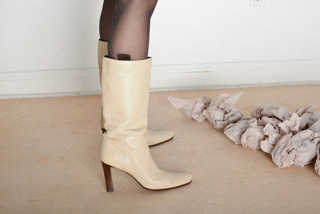 Either, And Vintage Miu Miu Tall White Boots