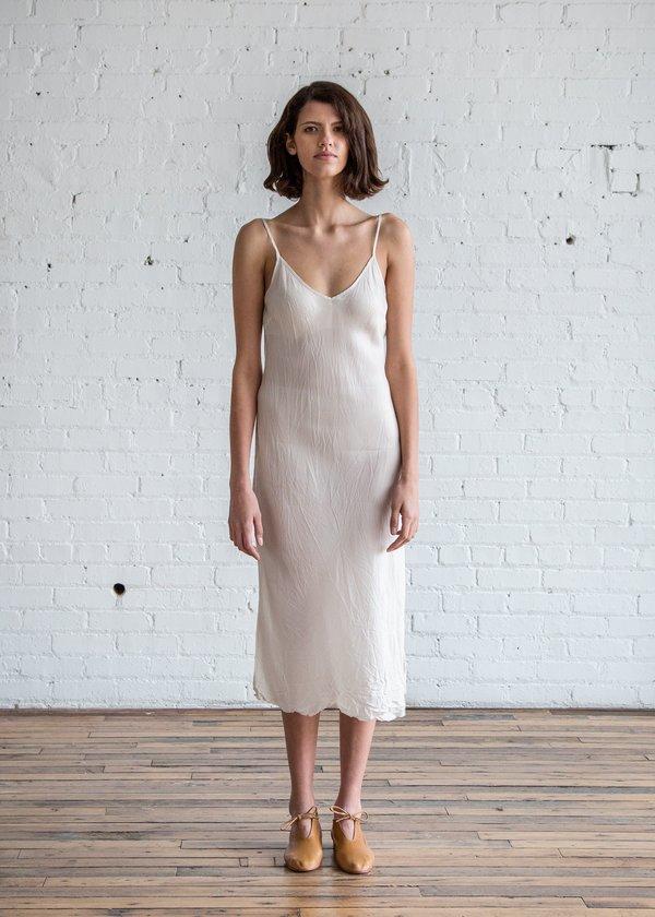 Organic by John Patrick Bias Long Slip - Vintage White