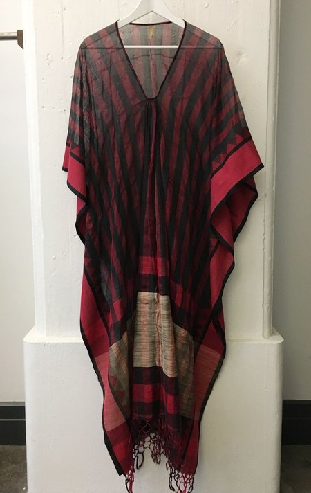 Two Red and black striped caftan