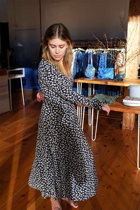 Ganni Roseburg Crepe Dress - Total Eclipse