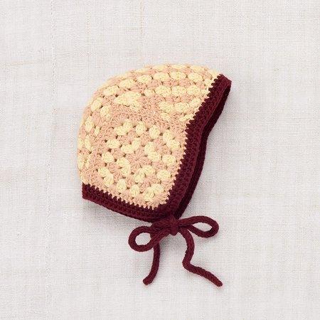 Kid's Misha & Puff Crochet Bonnet - Buttercream