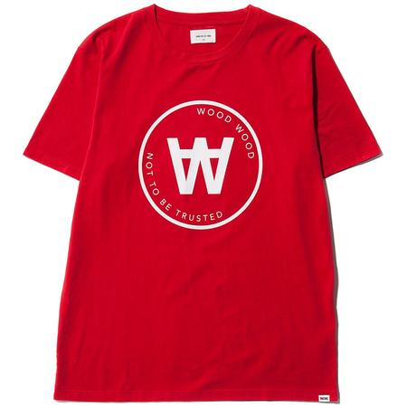 WOOD WOOD AA SEAL T-SHIRT - RED