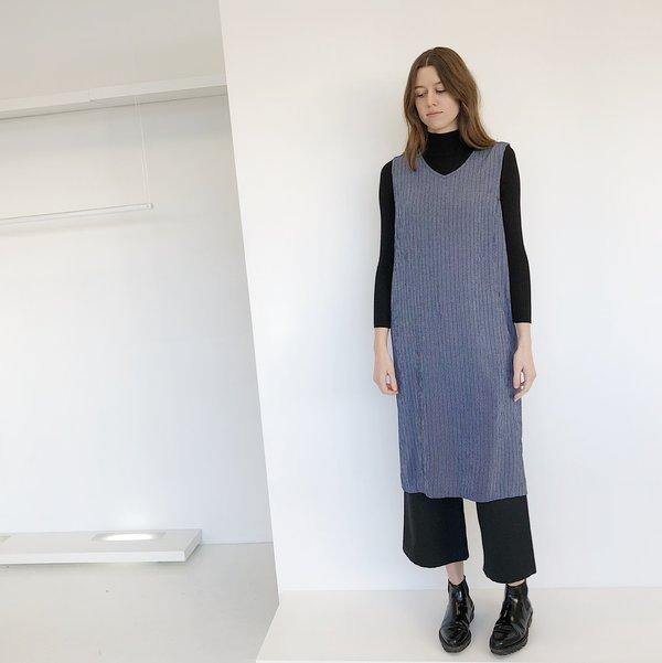 Micro Grid Midi Dress