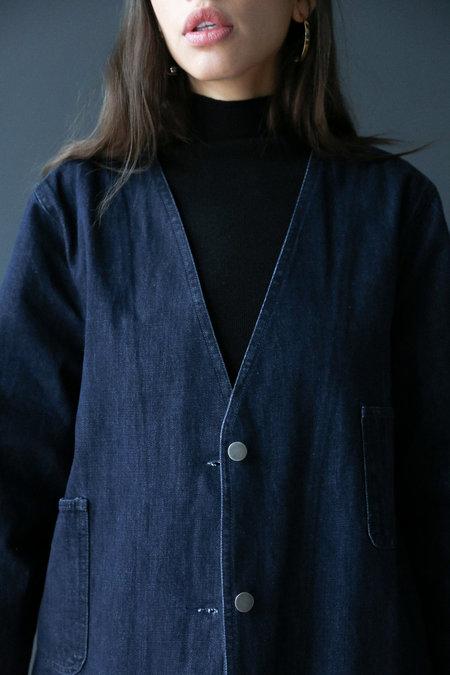 Collection Long Denim Coat - Dark Blue