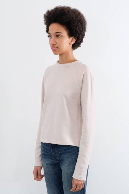 Sunspel Loopback Cropped Crew Sweatshirt