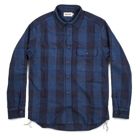 Taylor Stitch The Moto Utility Shirt in Royal & Navy Buffalo