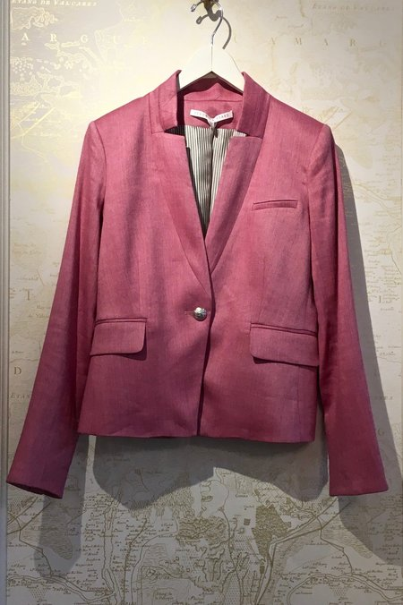 Veronica Beard Linen Orchid Dickey Jacket