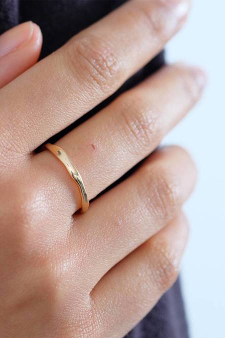 Bario Neal Reticulated Two Band Ring