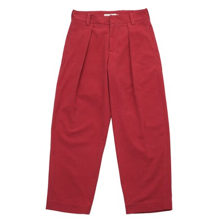 Pleated Trouser - Hibiscus Punch