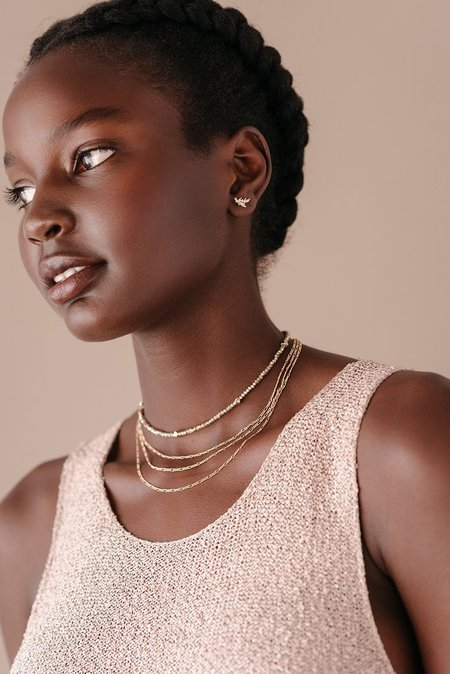 Lover's Tempo Figaro Chain Necklace - Silver or Gold